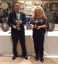 Mixed Doubles champions - Phil Waterfield and Karen Christie
